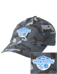 San Marino Soccer Embroidered Camouflage Cotton Cap
