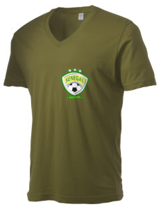 Senegal Soccer Alternative Men's 3.7 oz Basic V-Neck T-Shirt