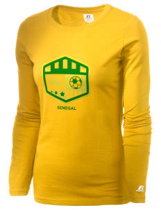 Senegal Soccer  Russell Women's Long Sleeve Campus T-Shirt