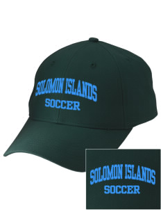 Solomon Islands Soccer Embroidered Low-Profile Cap