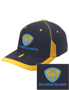 Solomon Islands Soccer Embroidered M2 Universal Fitted Contrast Cap