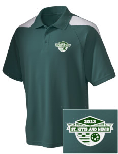 St. Kitts and Nevis Soccer Embroidered Holloway Men's Frequency Performance Pique Polo