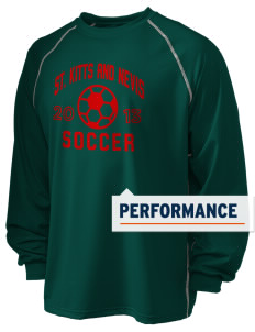 St. Kitts and Nevis Soccer Holloway Men's Fuel Performance Long Sleeve T-Shirt