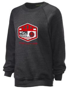 St. Kitts and Nevis Soccer Unisex Alternative Eco-Fleece Raglan Sweatshirt