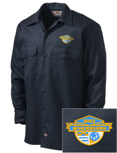 Sweden Soccer Embroidered Dickies Men's Long-Sleeve Workshirt