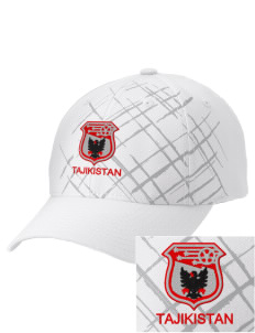 Tajikistan Soccer Embroidered Mixed Media Cap