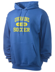 Ukraine Soccer Men's 7.8 oz Lightweight Hooded Sweatshirt