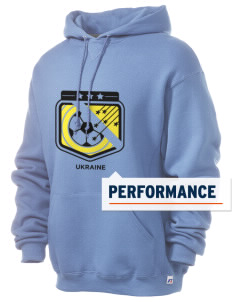 Ukraine Soccer Russell Men's Dri-Power Hooded Sweatshirt