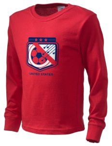 United States Soccer  Kid's Long Sleeve T-Shirt
