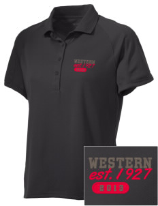 Western Seminary Est. 1927 Embroidered Women's Polytech Mesh Insert Polo
