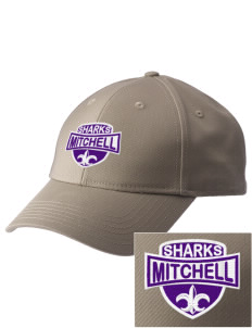 Mitchell Elementary School Sharks  Embroidered New Era Adjustable Structured Cap