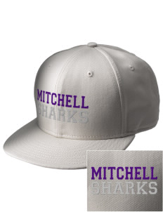 Mitchell Elementary School Sharks  Embroidered New Era Flat Bill Snapback Cap