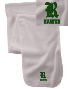 Runnymede Elementary School Hawks  Embroidered Extra Long Fleece Scarf