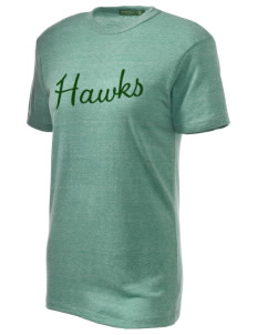 Runnymede Elementary School Hawks Embroidered Alternative Unisex Eco Heather T-Shirt