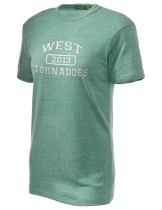 West Elementary School tornadoes Embroidered Alternative Unisex Eco Heather T-Shirt