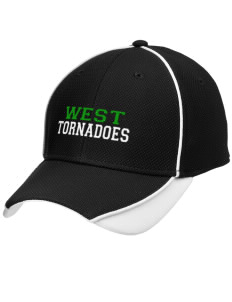 West Elementary School tornadoes Embroidered New Era Contrast Piped Performance Cap