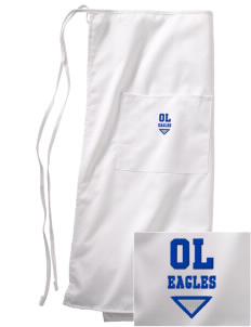 Oak Lawn Elementary School Eagles Embroidered Full Bistro Bib Apron