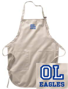 Oak Lawn Elementary School Eagles Embroidered Full-Length Apron with Pockets