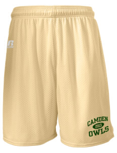 "Camden Primary School Owls  Russell Men's Mesh Shorts, 7"" Inseam"