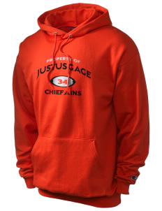 Justus Gage Elementary School Chiefains Champion Men's Hooded Sweatshirt