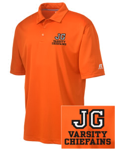 Justus Gage Elementary School Chiefains Embroidered Russell Coaches Core Polo Shirt