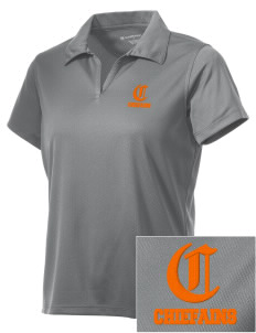 Justus Gage Elementary School Chiefains Embroidered Women's Double Mesh Polo