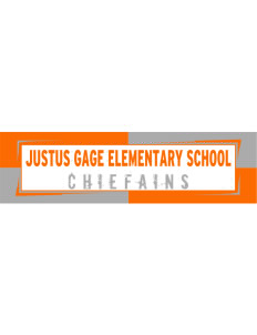 "Justus Gage Elementary School Chiefains Bumper Sticker 11"" x 3"""