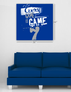 "Gowanda School Panthers Wall Poster Decal 36"" x 36"""