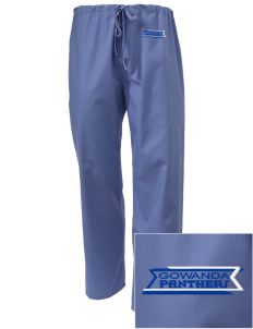 Gowanda School Panthers Embroidered Scrub Pants