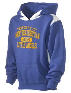 Mount Erie Christian Academy Little Angels Kid's Pullover Hooded Sweatshirt with Contrast Color