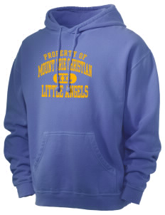 Mount Erie Christian Academy Little Angels Men's 80/20 Pigment Dyed Hooded Sweatshirt