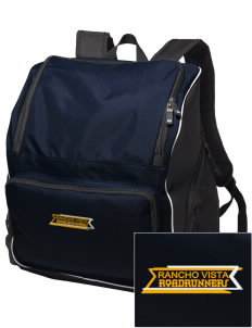 Rancho Vista Elementary School Roadrunners Embroidered Holloway Backpack