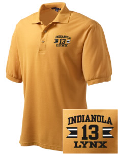 Indianola Junior High School Lynx Embroidered Men's Silk Touch Polo