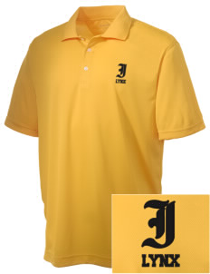 Indianola Junior High School Lynx Embroidered Men's Double Mesh Polo