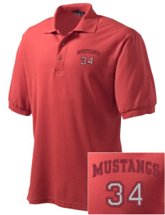 Marshall Middle School Mustangs Embroidered Men's Silk Touch Polo
