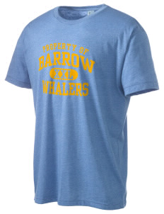 Barrow High School Whalers Men's Tri-Blend Crewneck T-Shirt