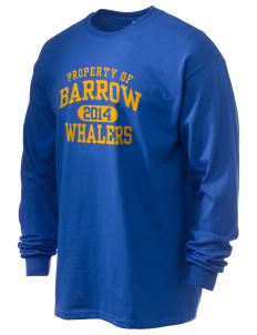 Barrow High School Whalers Men's 6.1 oz Ultra Cotton Long-Sleeve T-Shirt