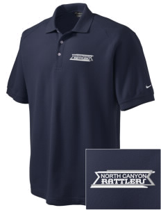 North Canyon High School Rattlers Embroidered Nike Men's Pique Knit Golf Polo