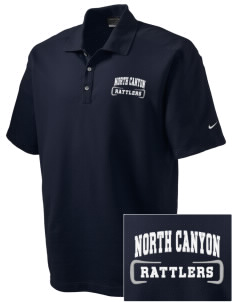 North Canyon High School Rattlers Embroidered Nike Men's Dri-FIT Pique II Golf Polo