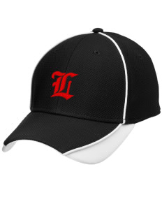 Liberty Alternative Education Center Lions Embroidered New Era Contrast Piped Performance Cap