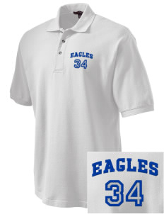 Foothill Middle School Eagles Embroidered Tall Men's Pique Polo