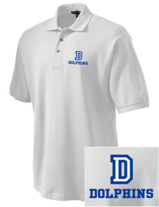 Durfee Elementary School Dolphins Embroidered Tall Men's Pique Polo