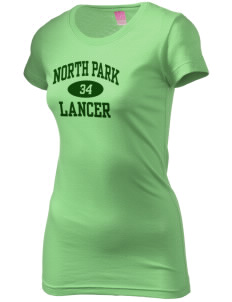North Park Middle School Lancer  Juniors' Fine Jersey Longer Length T-Shirt