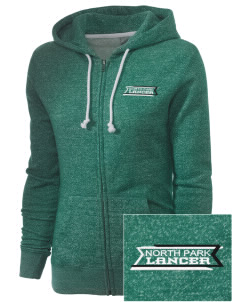 North Park Middle School Lancer Embroidered Women's Marled Full-Zip Hooded Sweatshirt