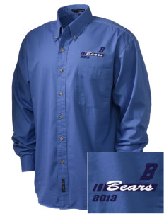 Burton Elementary School Bears Embroidered Tall Men's Twill Shirt