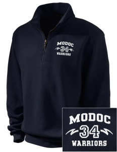Modoc Middle School Warriors Embroidered Men's 1/4-Zip Sweatshirt
