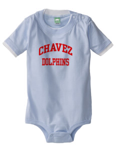 Chavez Elementary School Dolphins Baby One-Piece with Shoulder Snaps