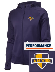 A M Winn Elementary School Panthers Embroidered Women's Tech Fleece Full-Zip Hooded Jacket