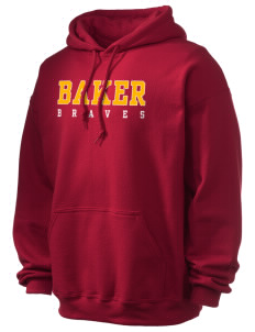 Baker Elementary School Braves Ultra Blend 50/50 Hooded Sweatshirt