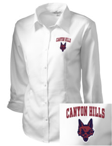 Canyon Hills Junior High School Coyotes Embroidered Women's 3/4 Sleeve Non-Iron